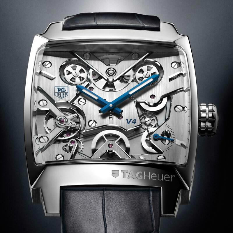 Limited Edition Tag Heuer Monaco V4 In Platinum To