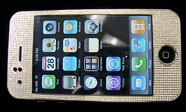 Brand New Bejeweled iPhone on eBay