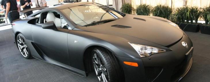 Matte Black Lexus LFA Makes US Debut
