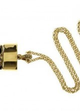 Roberto Cavalli Gold Plated USB Stick Pendant for Geeky Fashionista