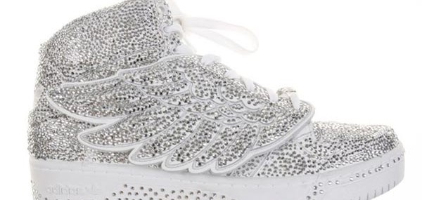 Adidas Jeremy Scott Wing Sneakers Completely Covered with Swarvoski Crystals