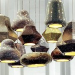 Swarovski Sparkle Shady – Series of Light Shades Covered in a Textile and Swarovski Crystal Skin