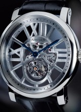 Rotonde de Cartier Skeleton Flying Tourbillon – Limited Edition Watches polished in 18 Carat White Gold
