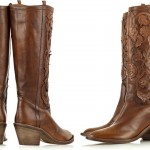 Roberto Cavalli Leather Applique Cowboy Boots – Stylish Footwear for the Country Chick