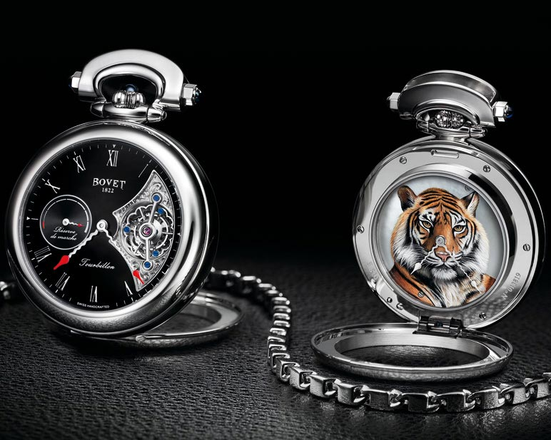 Fleurier-Amadeo-Tourbillon-double-sided-time-indication-miniature-painting-Tiger