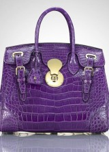 Ralph Lauren's Ricky 33 African Crocodile Leather Bag