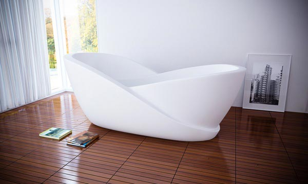Infinity Bathtub with Mini-Computer Create a Complete Sensory Experience for the User