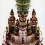 Limited Edition Faberge Malachite Egg Inspired by the Architecture of the Uspenski Cathedral in the Kremlin