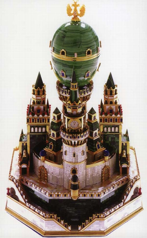 Faberge-malachite-egg-Uspenski-Cathedral