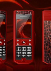 The Lady in Red – Gresso Grand Monaco Red Ceramic Red Cayman Cell Phone