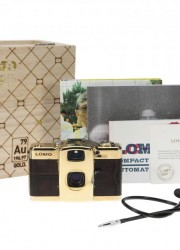 Lomo LC-A+ Camera Coated with 24-carat Gold