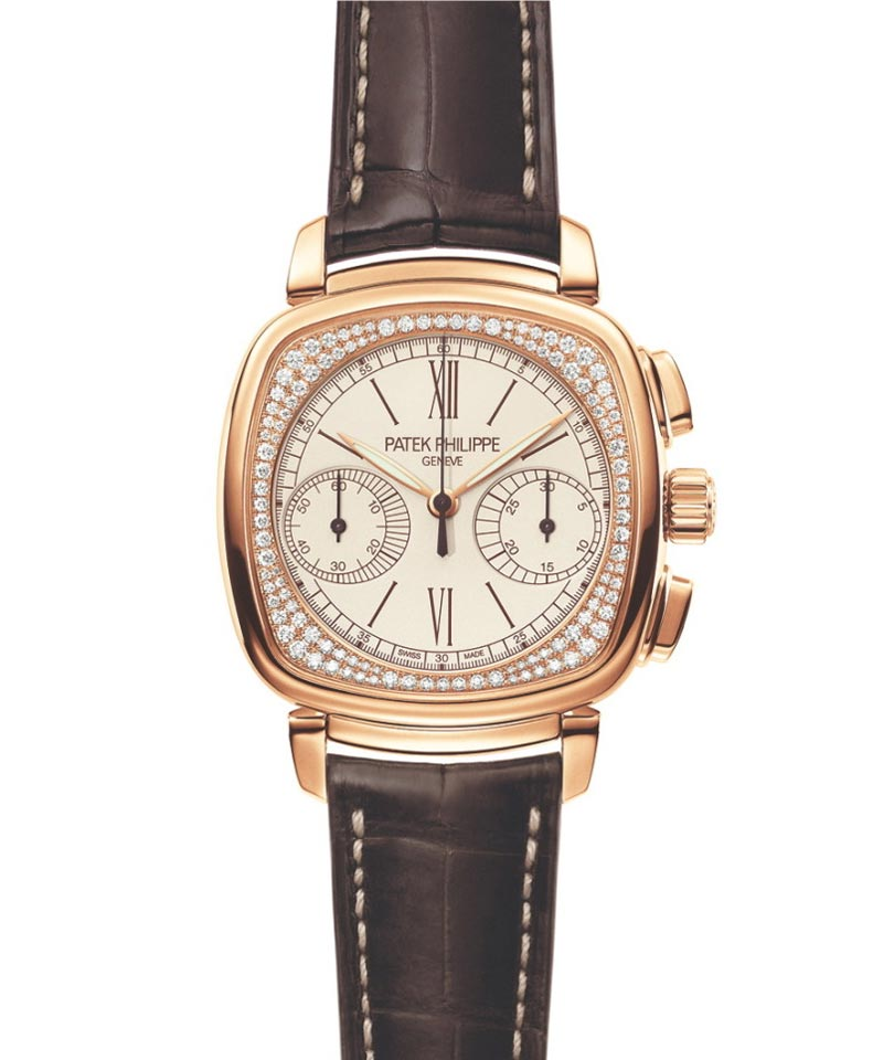 Patek philippe 39 s ladies first chronograph 2009 timezone ladies watch of the year extravaganzi for Patek philippe women