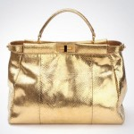 Fendi 24 Carat Gold Python Skin Bag – Limited Edition Peek-a-Boo Bag