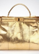 Fendi 24 Carat Gold Python Skin Bag – Limited Edition Peek-a-Boo Bag