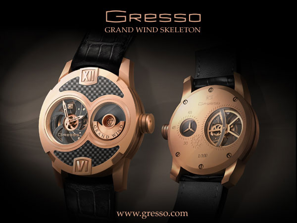 Gresso Makes its Watches Debut with Grand Wind Skeleton Collection