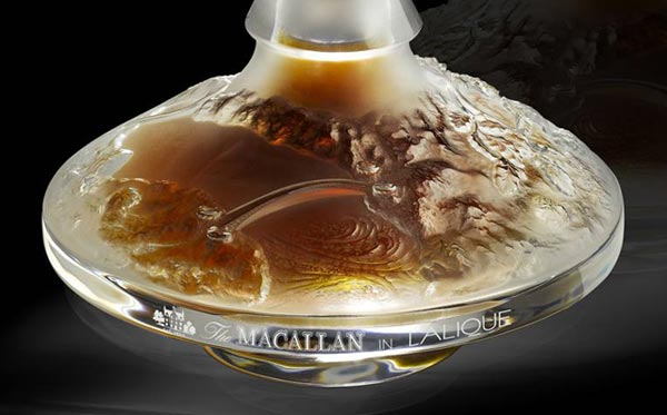 The Macallan in Lalique Cire Perdue - 64 years old Macallan single malt whiskey