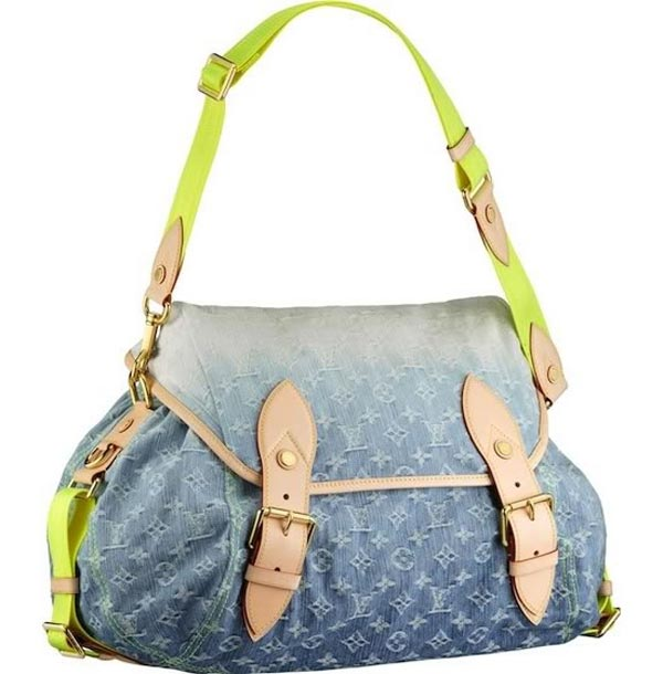 Louis Vuitton Monogram Denim Sunrise Bag - Blue