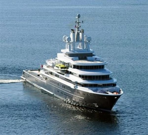 Luna Yacht World S Largest Expedition Motor Yacht Picked Up By