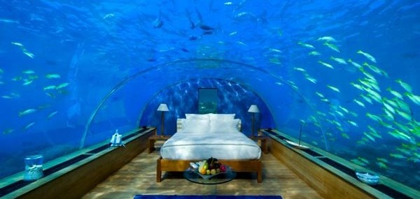 Sleep Underwater in Hilton Maldives Resort & Spa Rangali Island