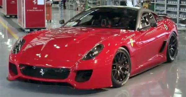 Ferrari 599 GTO Presented At Modenau0027s Ducal Palace Military Academy