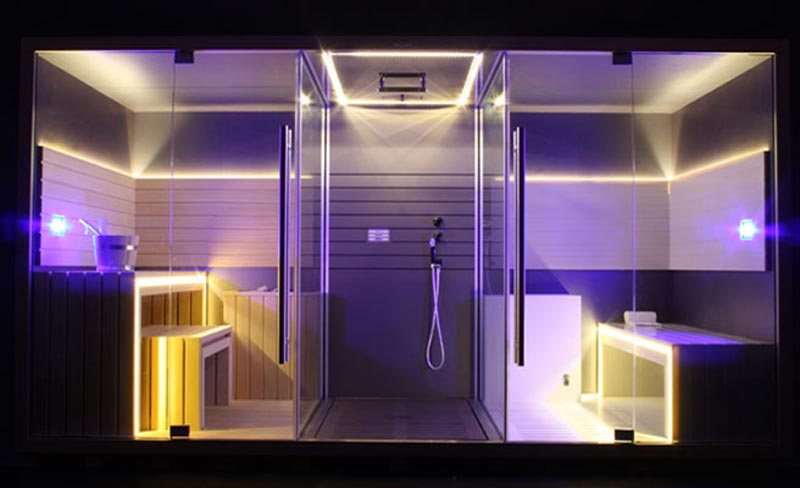Jacuzzi Sasha Luxury Home Spa Combines A Sauna Shower