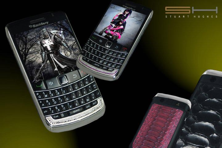 Diamond BlackBerry 9700 Bold II Precious Stone &amp; Python Editions by Stuart Hughes
