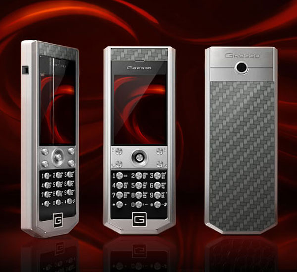 Gresso Grand Monaco Sport Serie Luxury Phones - Metallic Ceramic Metallic Carbon