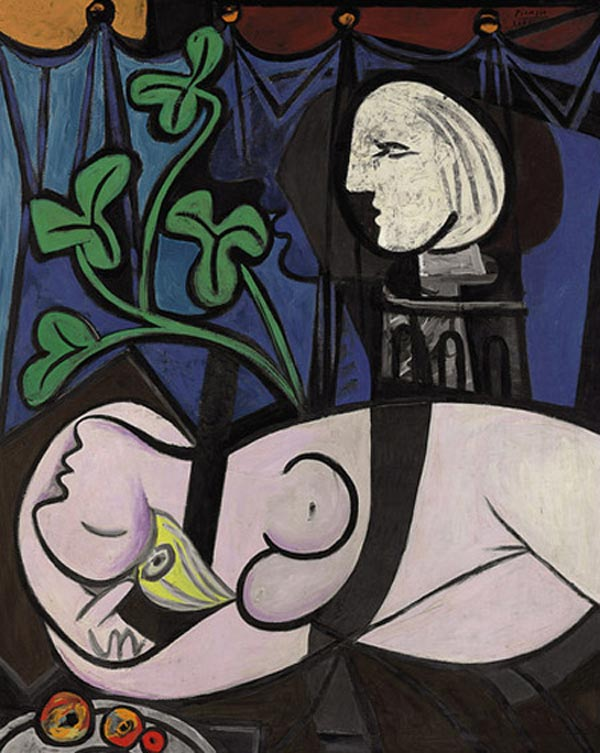 Pablo-Picasso-Nude,-Green-Leaves-and-Bust