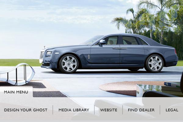 Rolls-Royce the Ghost Applications for iPhone – Rolls-Royce's First Official Smart Phone Application