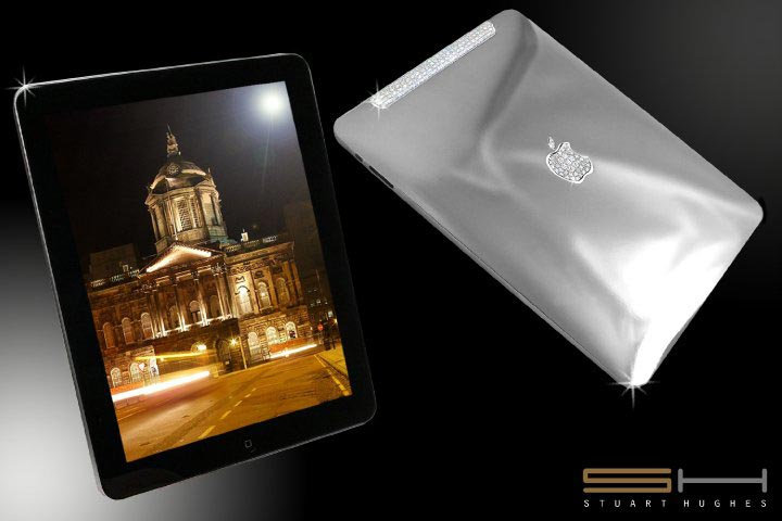 The Solid Platinum iPad Supreme Edition Designed and Crafted by Stuart Hughes