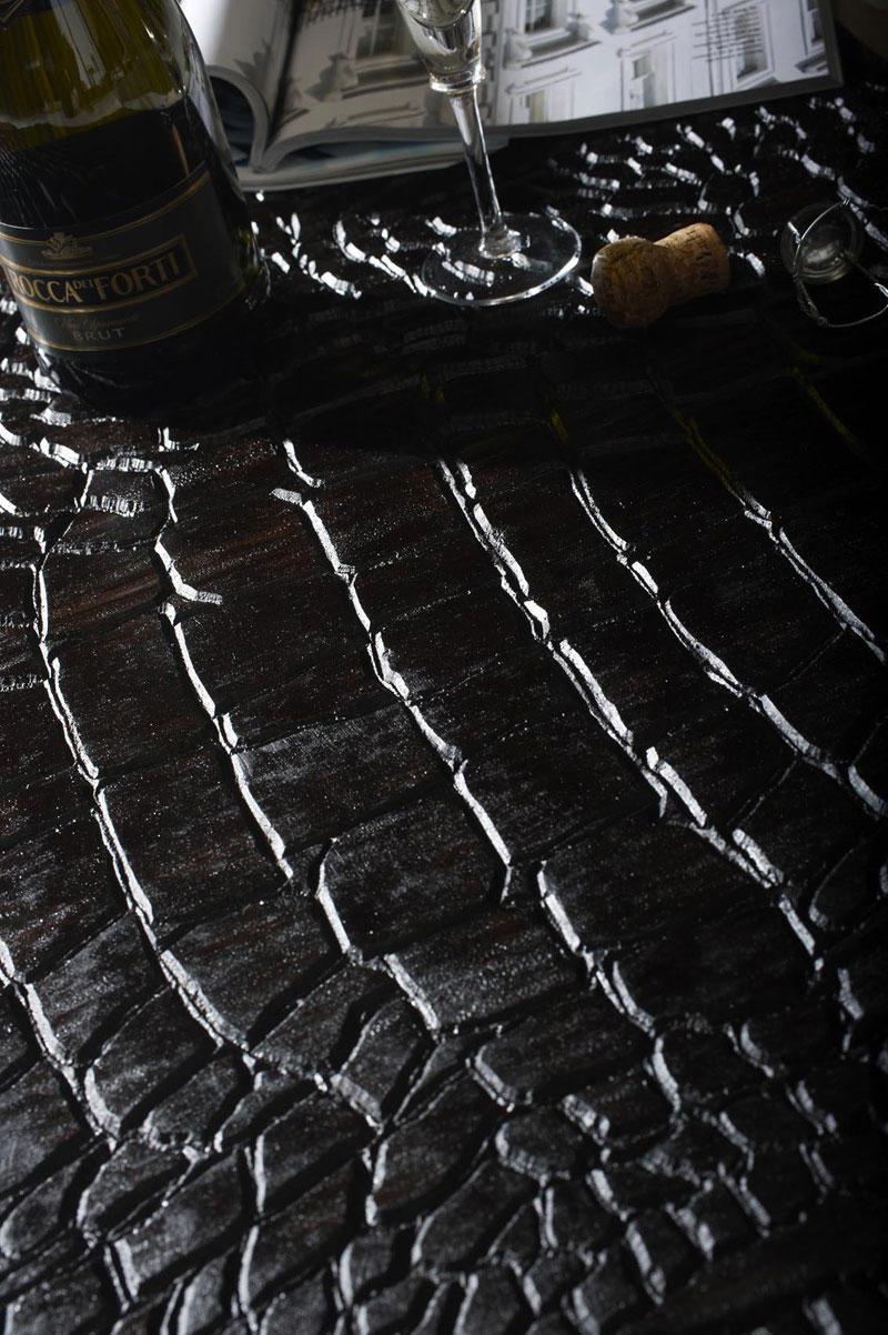 Crocodile Skin Wooden Floor by QuadroLengo