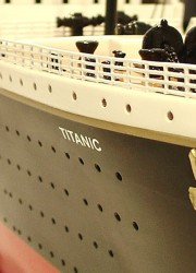Handmade Model of Titanic Up for Sale