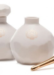 Joya FvsS Sensual Fragrances in Hand Cast Porcelain Bottles With 22 Karat Gold Perfume Wands