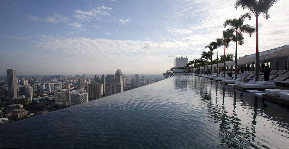 MARINA BAY SANDS HOTEL – Infinity Pool 55 Storeys Above Ground Opens ...