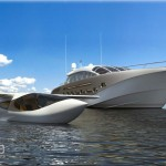 Project 116 – Espen Oeino High Speed Motor Yacht Comes With a Light Aircraft on Board