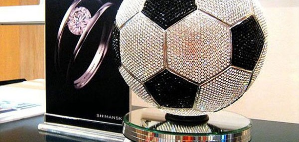 Shimansky Diamond Studded Soccer Ball – Enough Bling to Distract Any Goal-Keeper