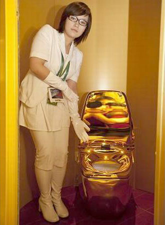 Gold Plated Regio Toilet by Inax Corp.