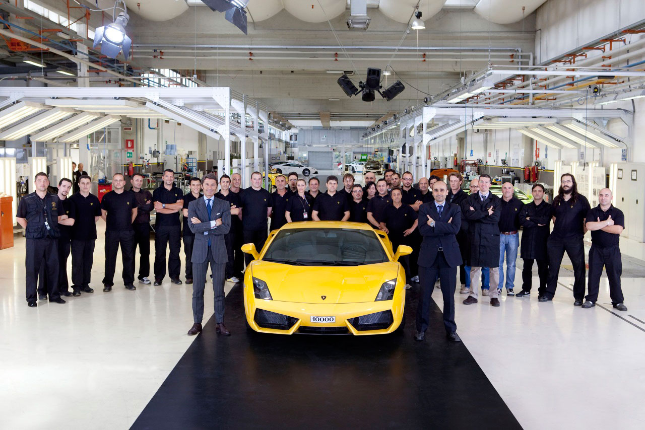 10,000th Lamborghini Gallardo