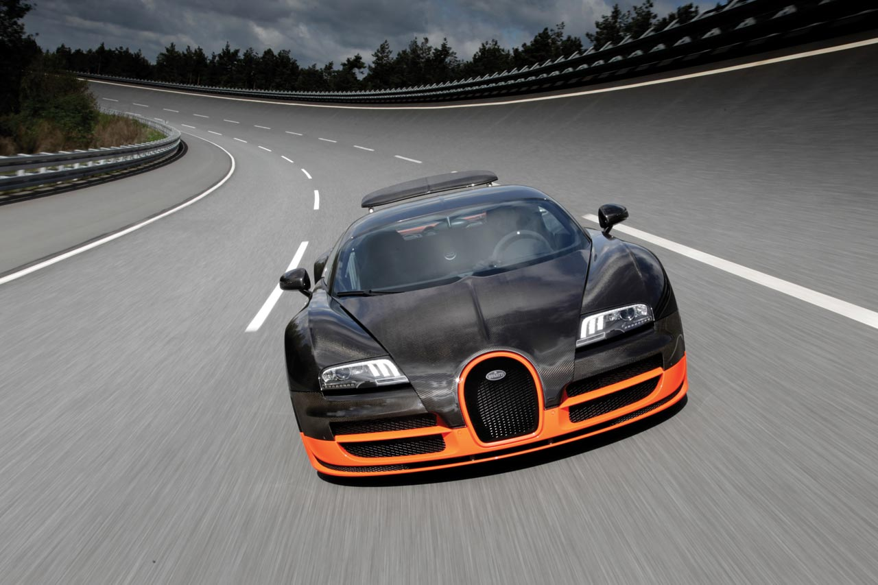 bugatti veyron 16 4 super sport fastet production car sets new land speed record at mph. Black Bedroom Furniture Sets. Home Design Ideas