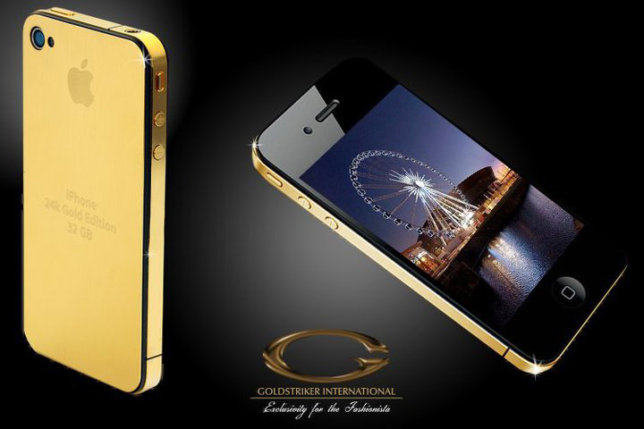 24ct Solid Gold iPhone 4G Uniquely Designed and Crafted by Stuart Hughes