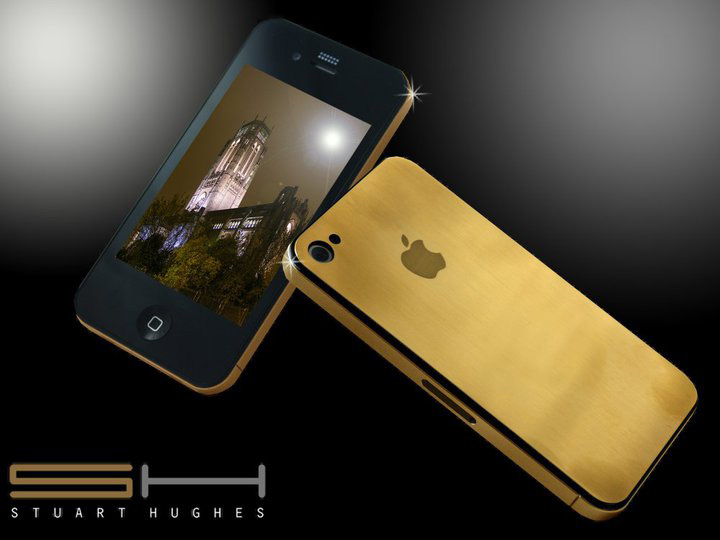 dd0302cd36d 24ct Solid Gold iPhone 4G Uniquely Designed and Crafted by Stuart ...