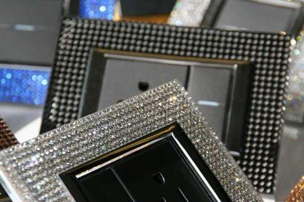 Luxury Diametral Switch plates with more than 600 Swarovski crystals