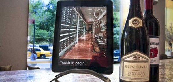 NYC South Gate Restaurant Launch Custom Designed iPad Wine Tablets