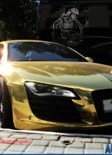 Audi R8 Gold – Another Victim of a Bling Loving Owner