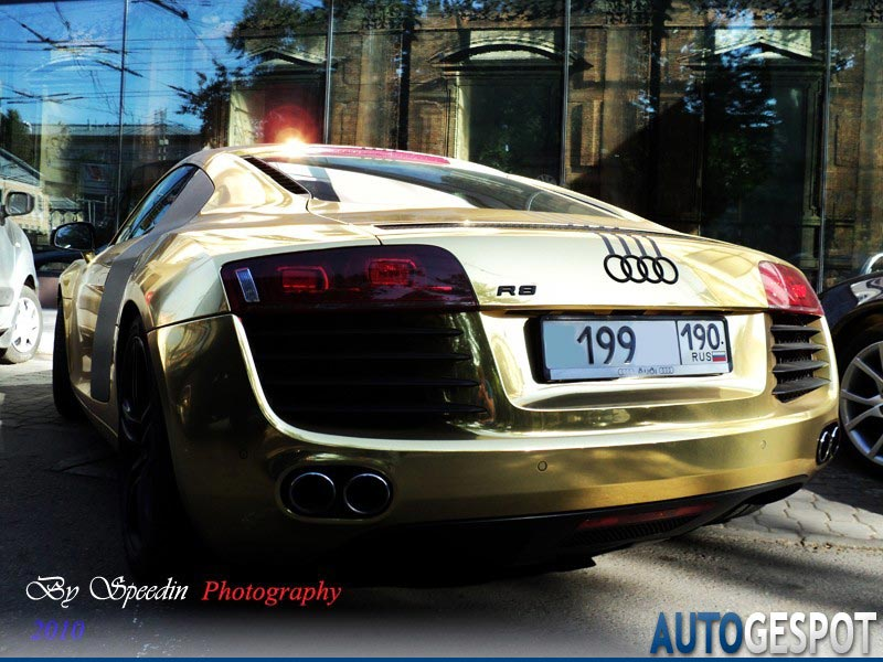 Gold Plated Audi R8