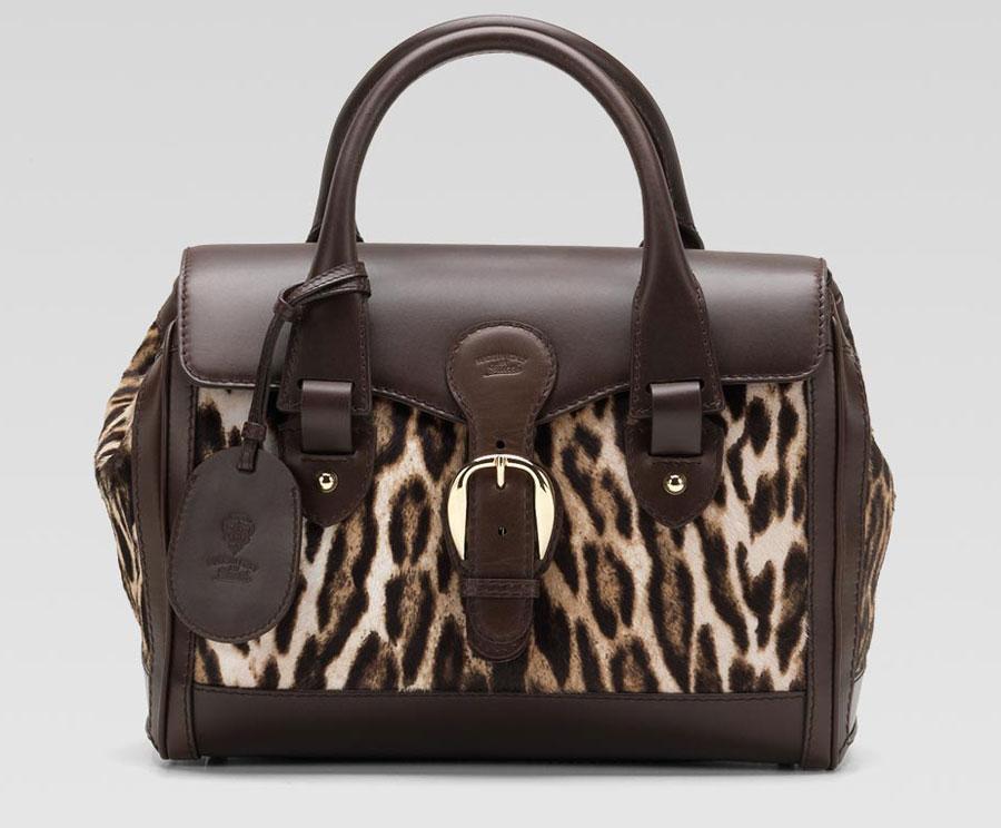 Gucci Heritage Pony Hair Large Boston Bag