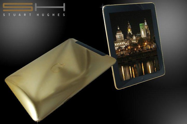 Ipad Supreme Fire Edition by Stuart Hughes &#8211; The Worlds First 24ct Gold iPad