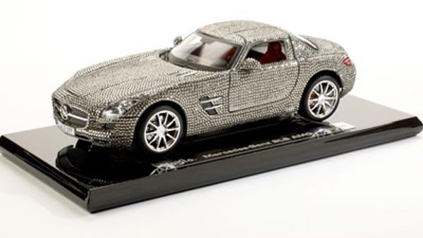 Swarovski Crystal Studded Small Scale Mercedes Benz SLS AMG
