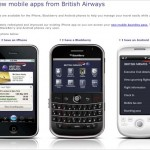 British Airways Mobile Applications Allowing Passengers to Check-in with a Smart Phone
