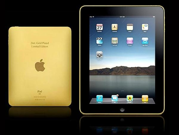 Amosu Couture Gold iPad &#8211; A More Glamorous Version of the Apple iPad